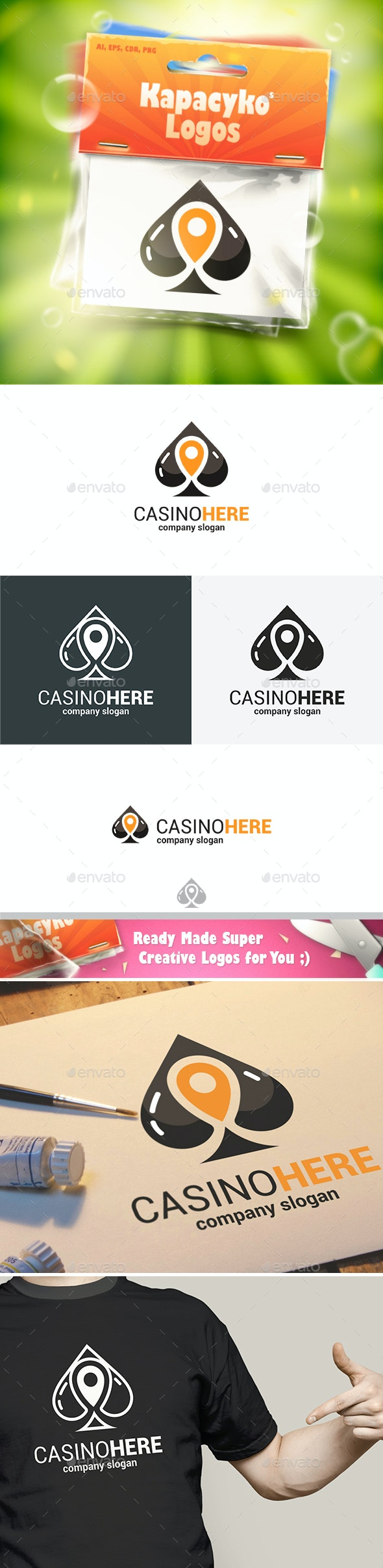Casino Navigate Here Logo - Abstract Logo Templates