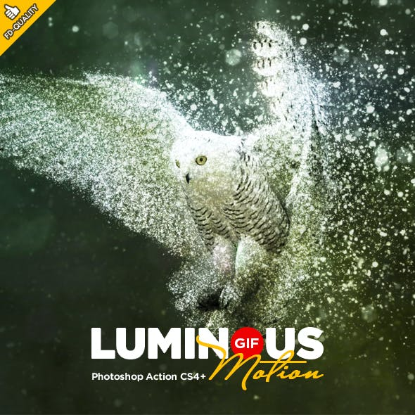 Luminous GIF Animated CS4+ Photoshop Action