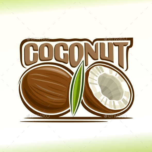 Vector Logo for Coconut - Food Objects