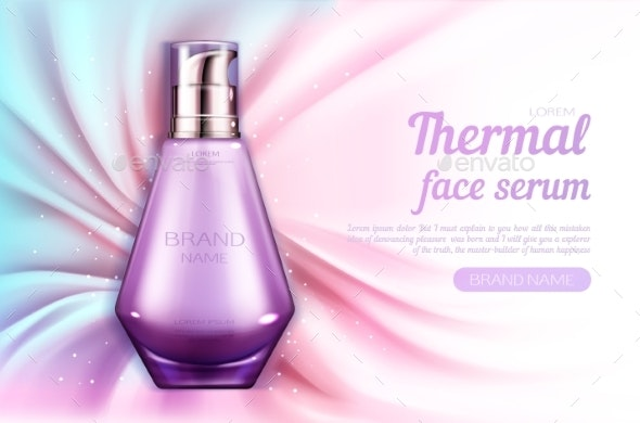 Cosmetics Serum Bottle Mockup Thermal Face Product - Health/Medicine Conceptual