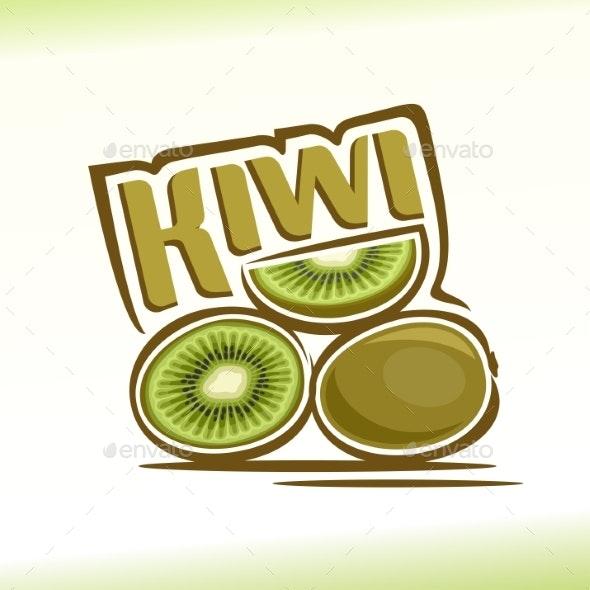 Vector Kiwi - Food Objects