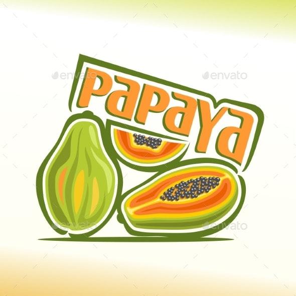 Vector Papaya - Food Objects