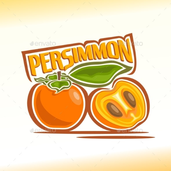 Vector Persimmon - Food Objects
