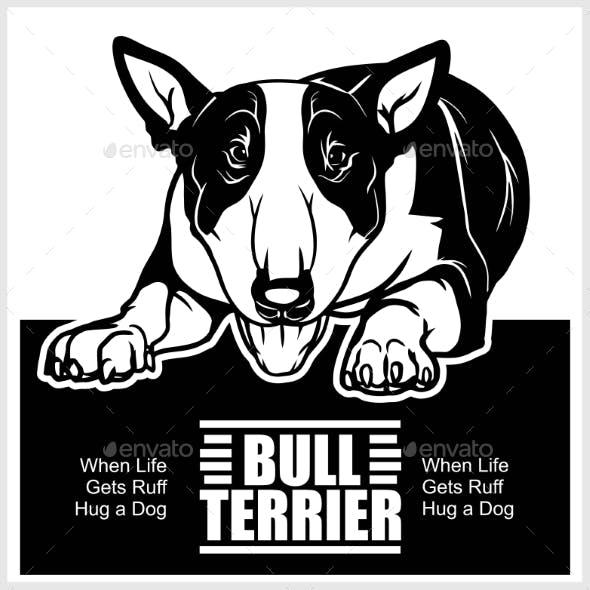 Bull Terrier - Vector Illustration for T-Shirt