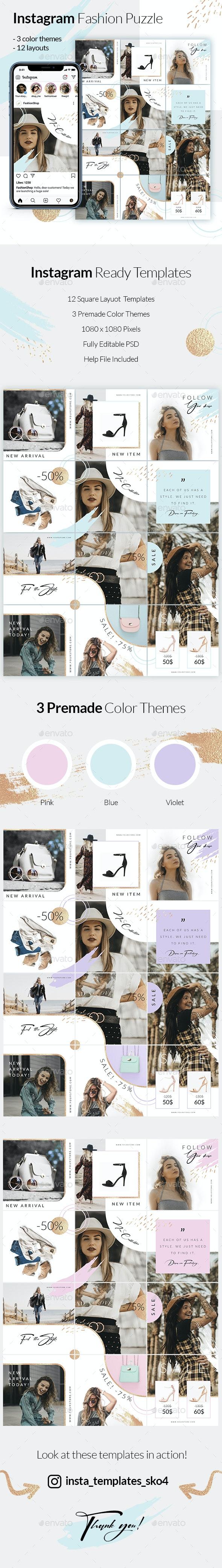Fashion Puzzle - Instagram Posts - Social Media Web Elements
