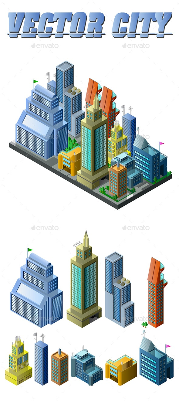 Vector City Design - Buildings Objects