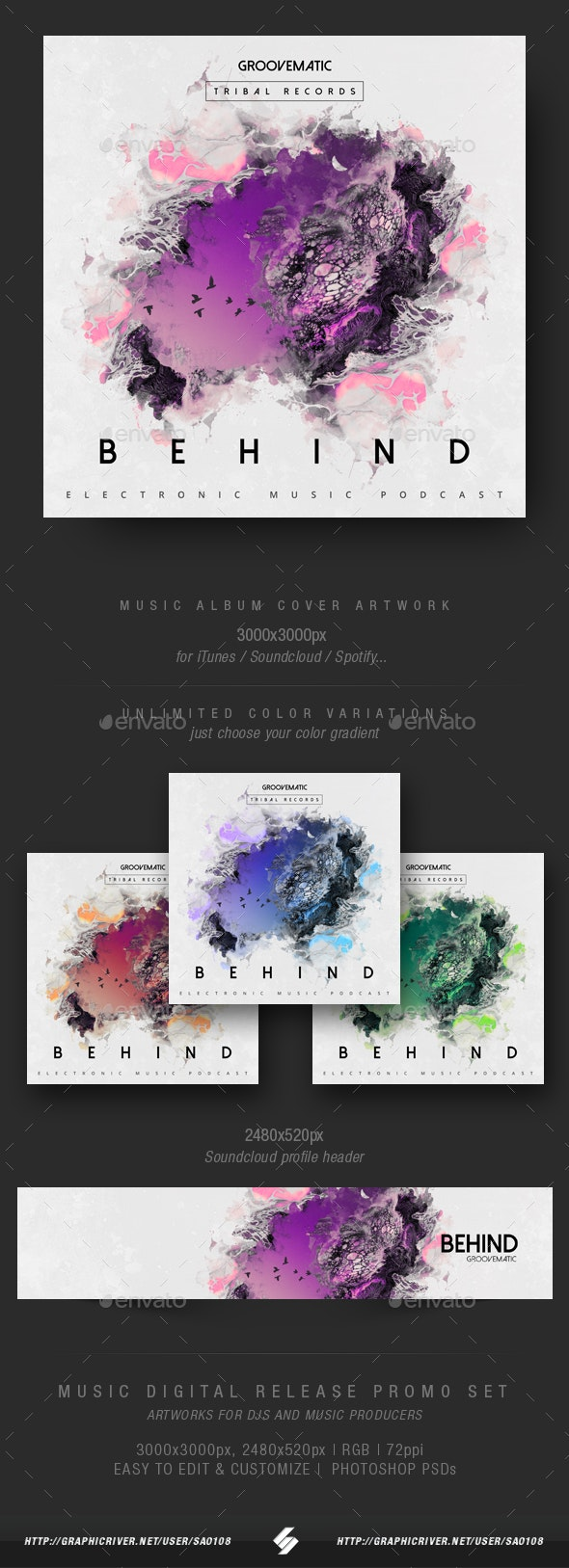 Behind - Music Album Cover Artwork Template - Miscellaneous Social Media