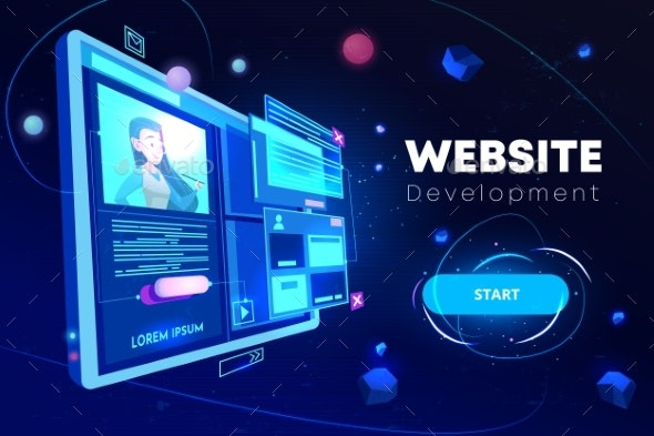 Website Development Banner Programming Technology - Web Technology
