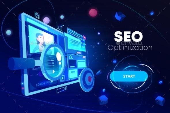 SEO Optimization Marketing Business Technology - Web Technology