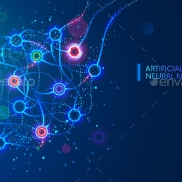 Artificial neural networks, ANN, connectionist systems. AI. Artificial intelligence. Science concept