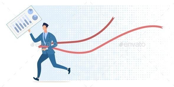 Achievement in Business Flat Vector Concept - Concepts Business