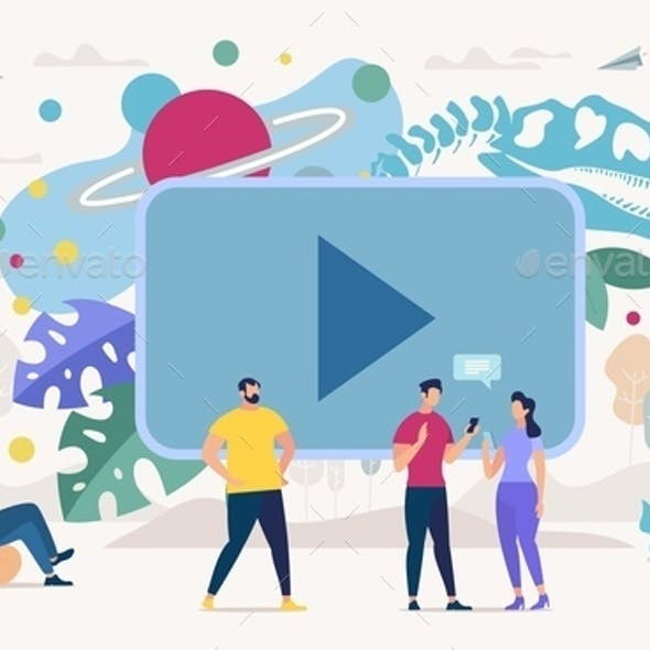 Online Education with Video Content Vector Concept