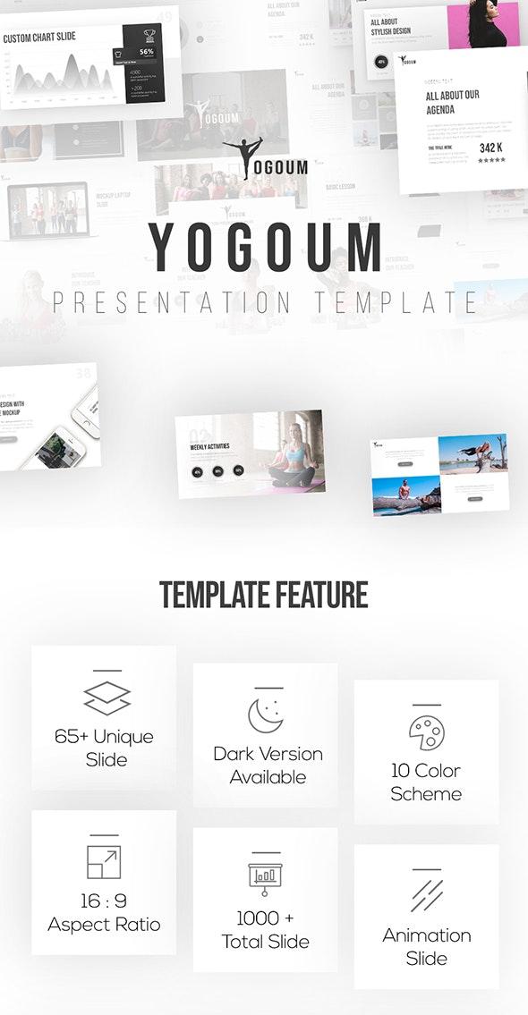 Yogoum - Yoga & GYM Keynote Template - Keynote Templates Presentation Templates