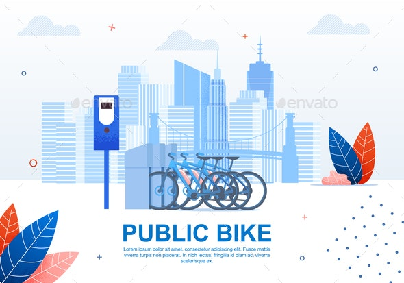 Creative Urban Transportation Public Bike Banner - Sports/Activity Conceptual