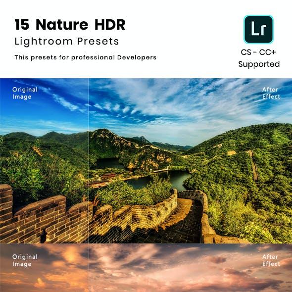 15 Nature HDR Lightroom preset