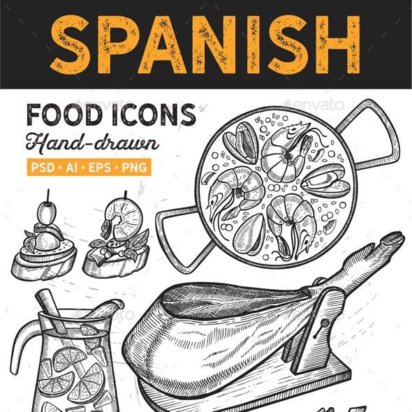 Spanish Food Hand-Drawn Graphic