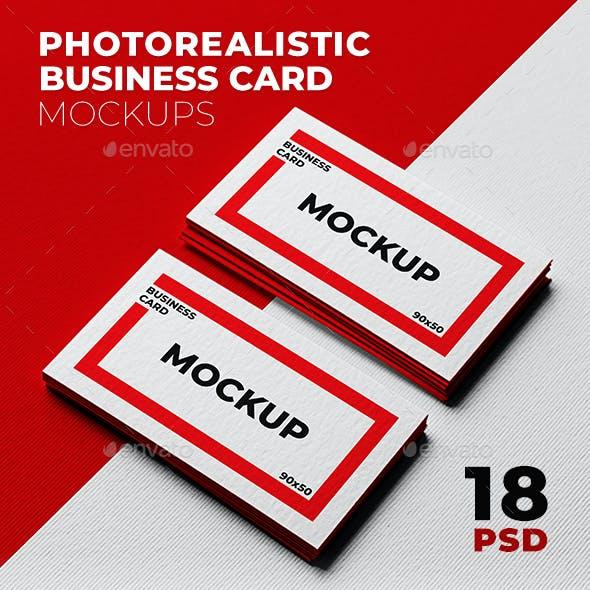 Realistic Business Card Mockups | 18 Scenes