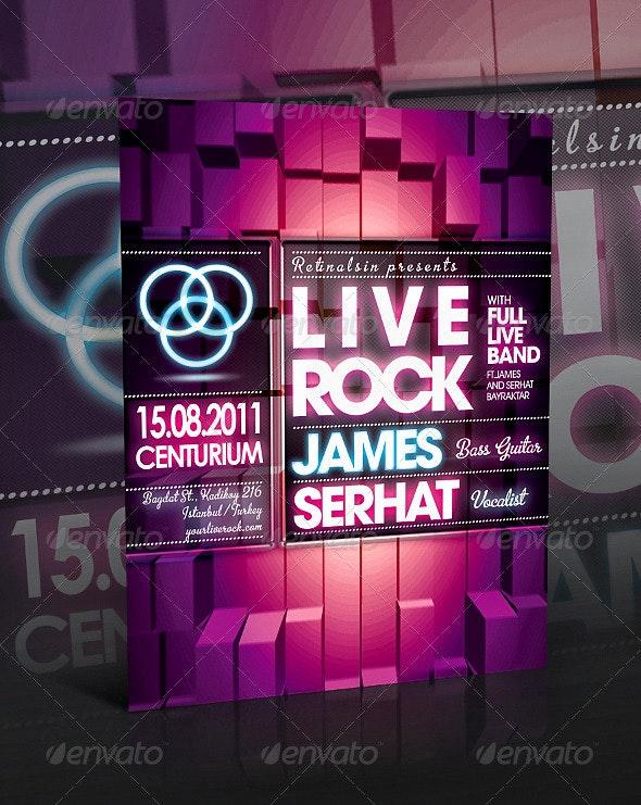 Liverock Flyer Template - Concerts Events