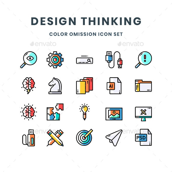 Design Thinking Icons - Abstract Icons