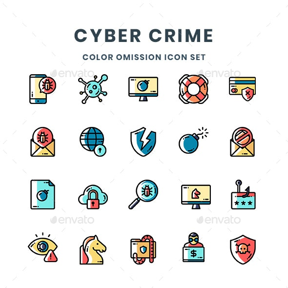Cyber Crime Icons - Technology Icons