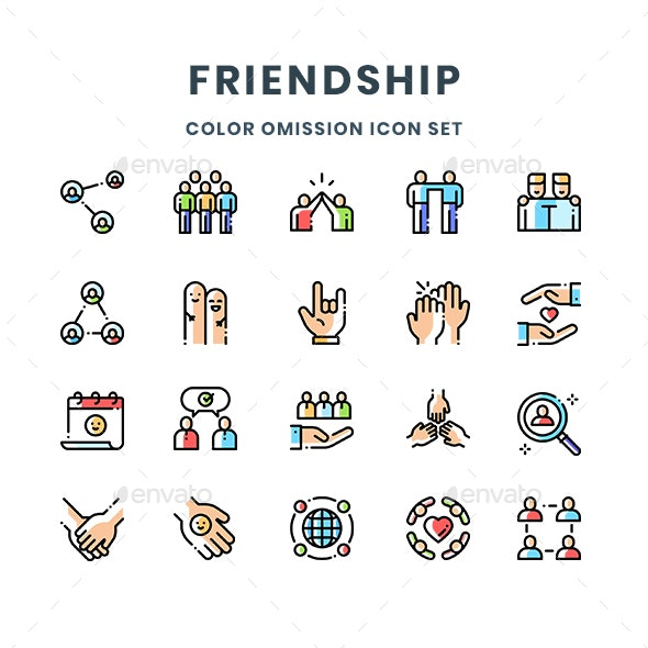 Friendship Icons - People Characters