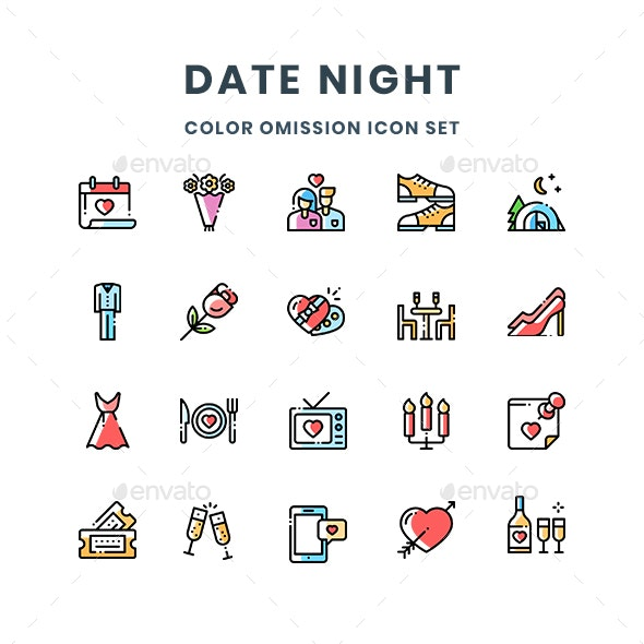Date Night Icons - Abstract Icons