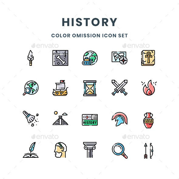 History Icons - Abstract Icons