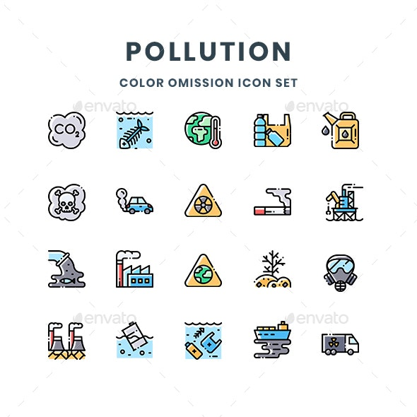 Pollution Icons - Abstract Icons