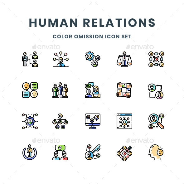 Human Relations Icons - People Characters