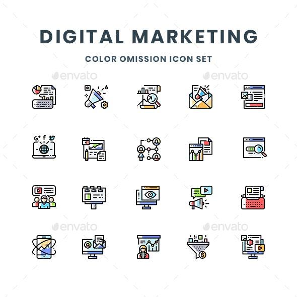 Digital Marketing Icons - Media Icons