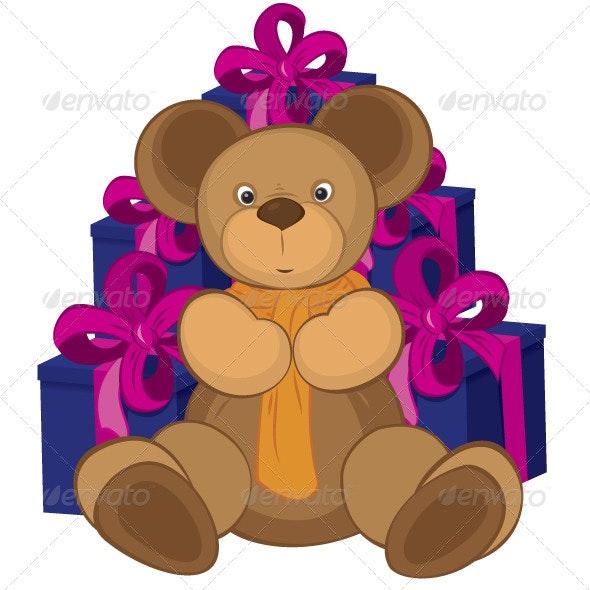 Teddy Bear Toy - Characters Vectors