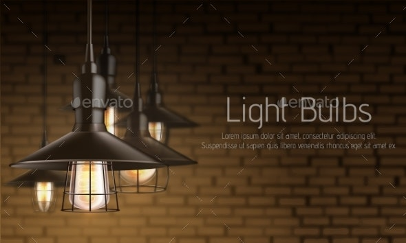 Light Equipment Shop Realistic Vector Banner - Backgrounds Business