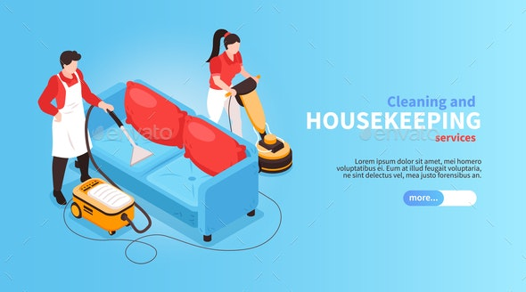 Housekeeping Service Horizontal Banner - Industries Business