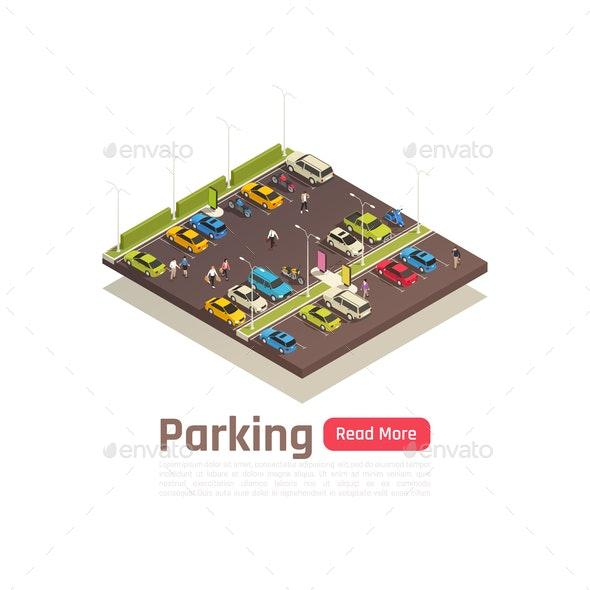 Isometric Isolated City Composition - Miscellaneous Vectors
