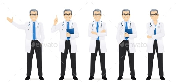 Male Doctor Set - Health/Medicine Conceptual