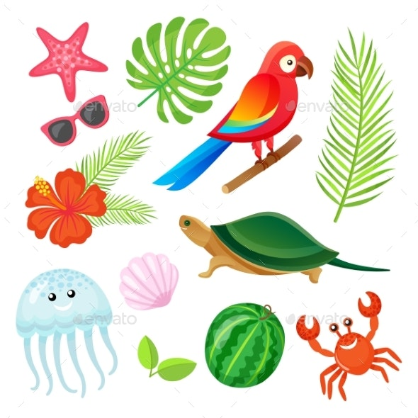 Summer Elements - Animals Characters