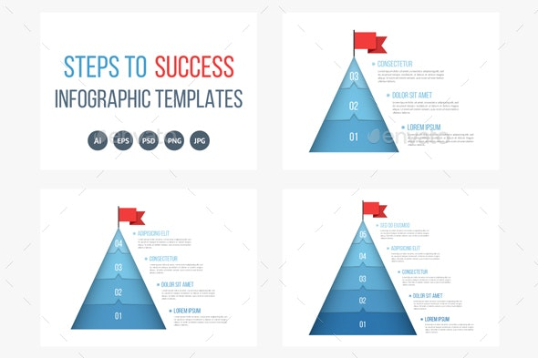 Steps to Success - Infographics