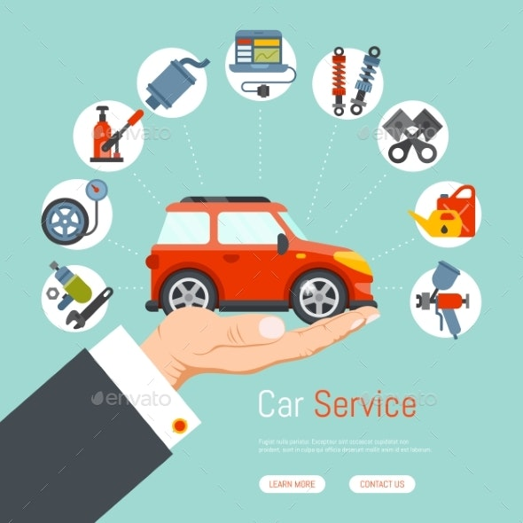 Car Garage Service Repair Station Banner Mechanic - Services Commercial / Shopping