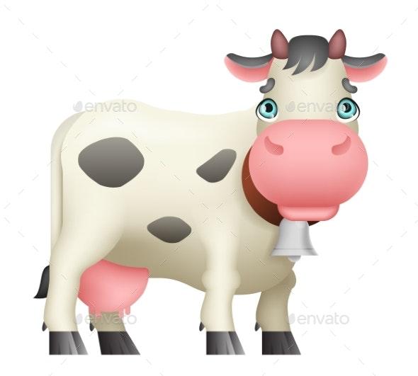 Cartoon Cow Standing - Animals Characters