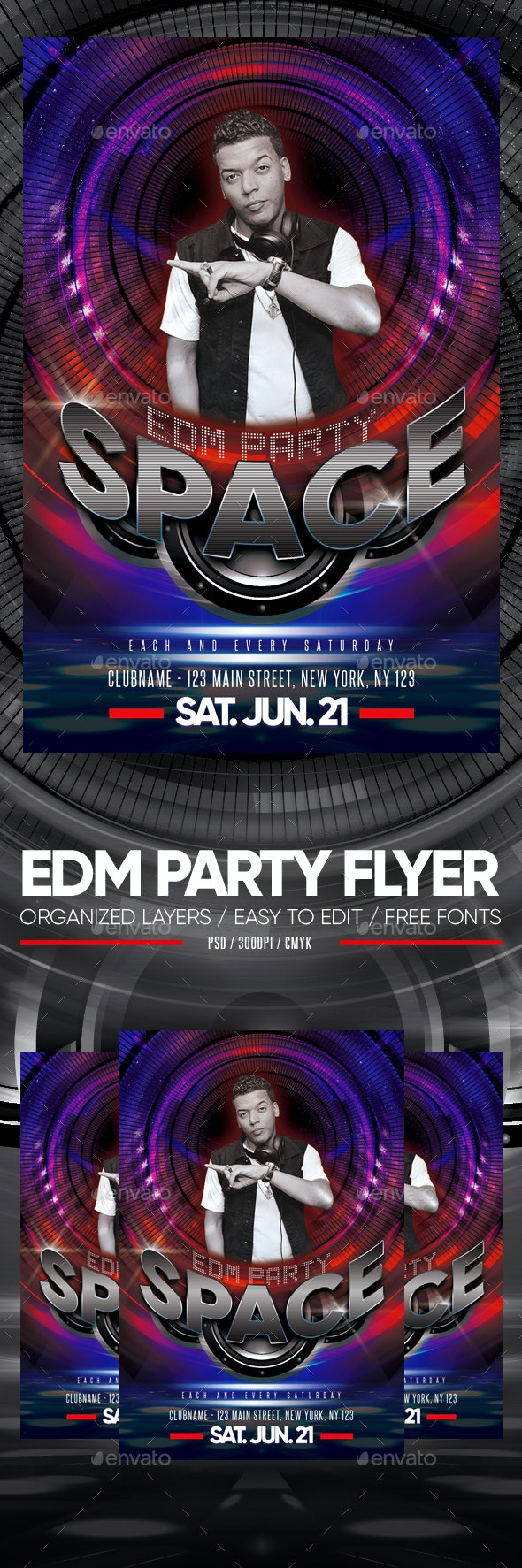 EDM Party Flyer - Clubs & Parties Events