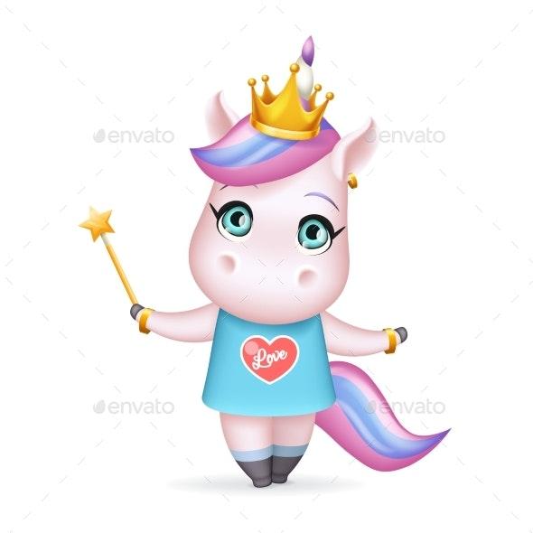Magic Princess Fairy Unicorn Girl - Animals Characters
