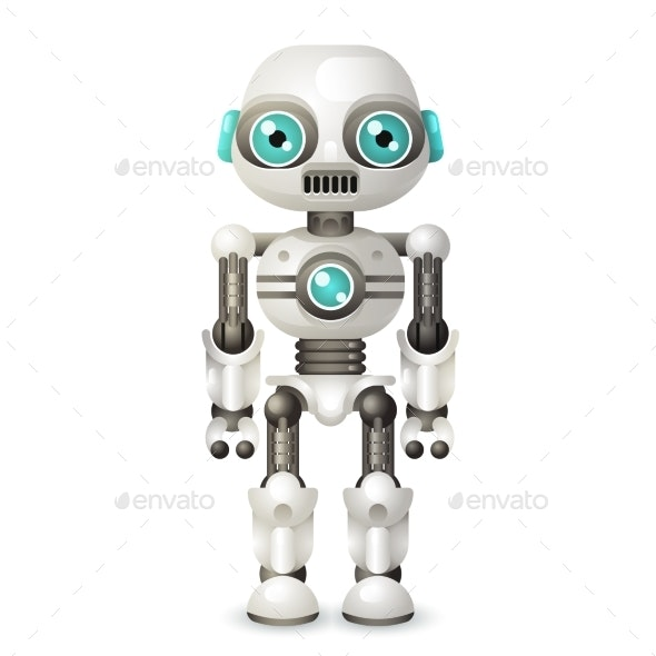 Modern Android Robot Character Artificial - Computers Technology