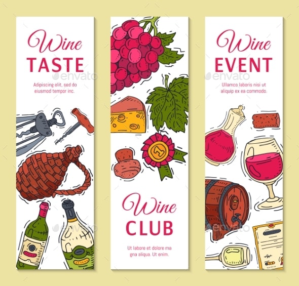 Wine Taste Club Banners - Food Objects