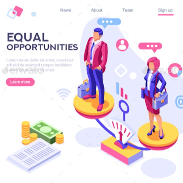 Business Equality Concept