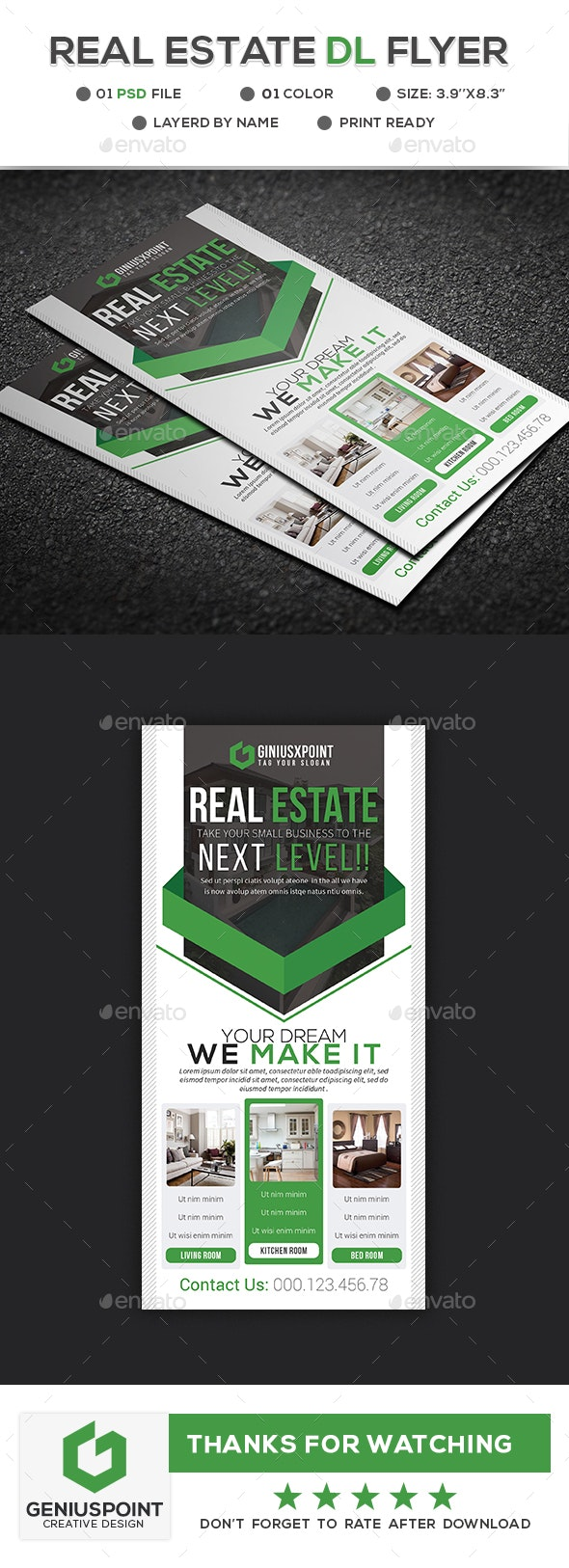 Real Estate DL Flyer - Miscellaneous Print Templates