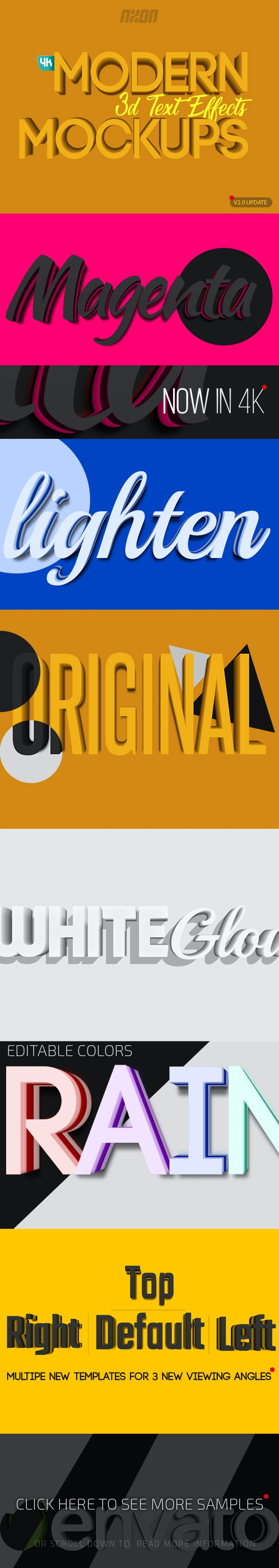 Modern 3D Text Effects Mockups - Text Effects Actions