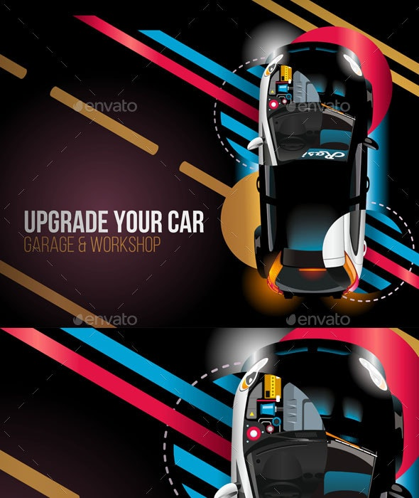 Upgrade Your Car Night Background - Sports/Activity Conceptual