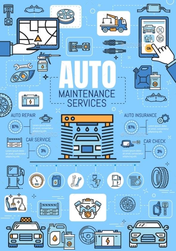 Car Repair Diagnostic Mechanic Service Station - Services Commercial / Shopping