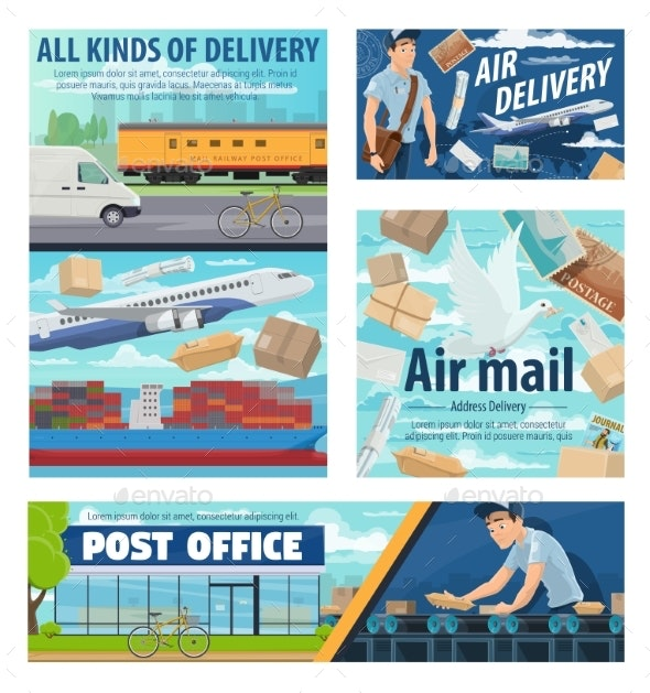 Mail Delivery Service Post Office Parcels - Services Commercial / Shopping