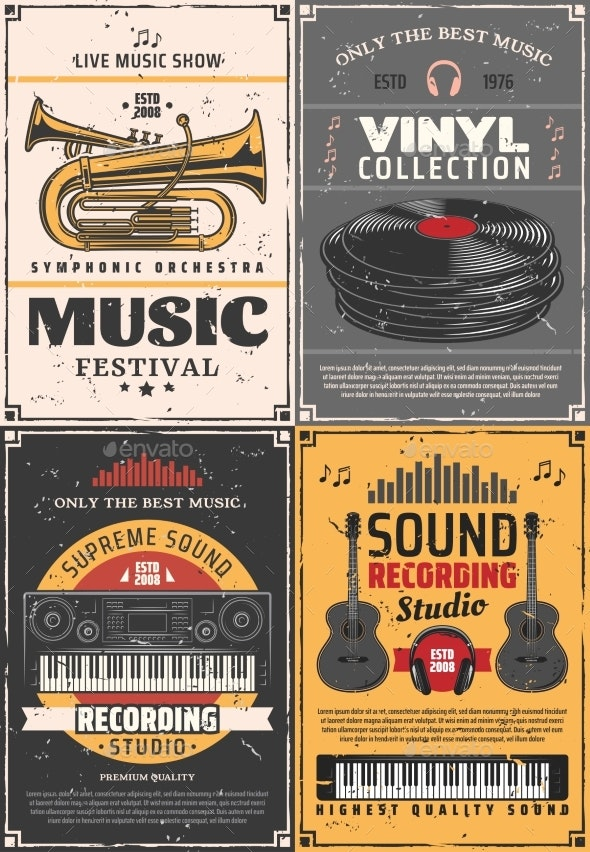 Music and Musical Instruments Recording Studio - Man-made Objects Objects